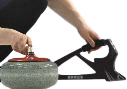 [Picture of a curling sliding with a stabilizer]